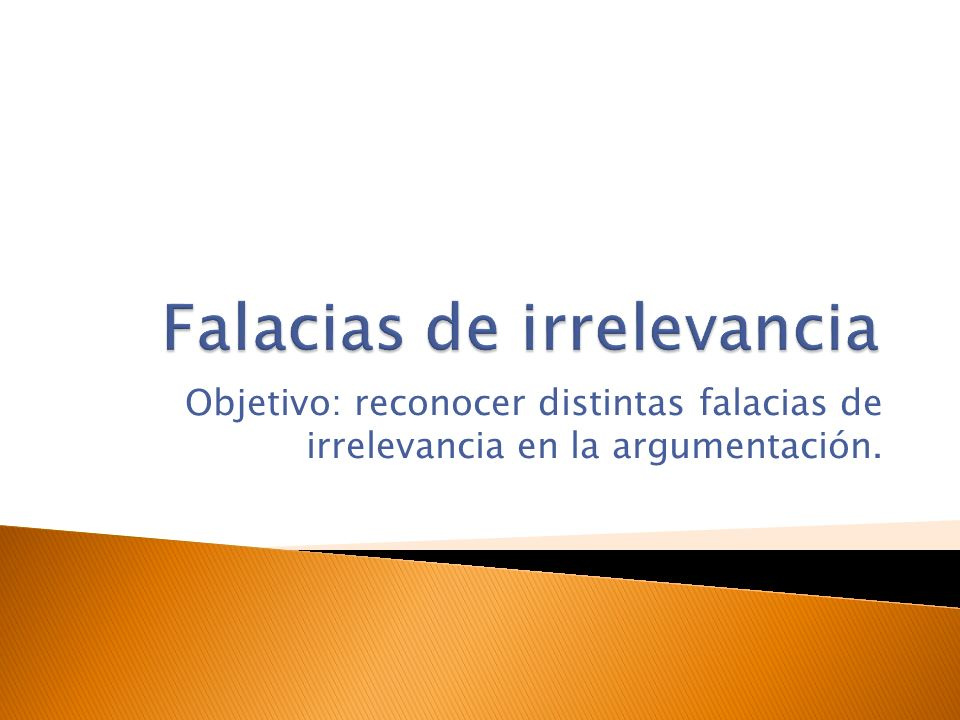 Falacias de irrelevancia