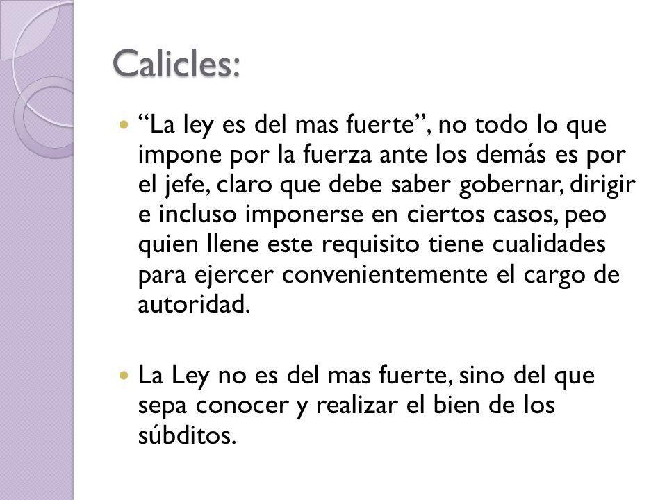 Calicles: