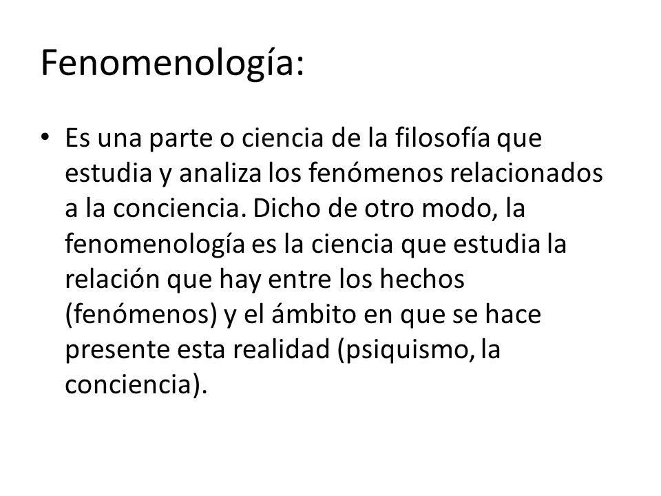 Fenomenología:
