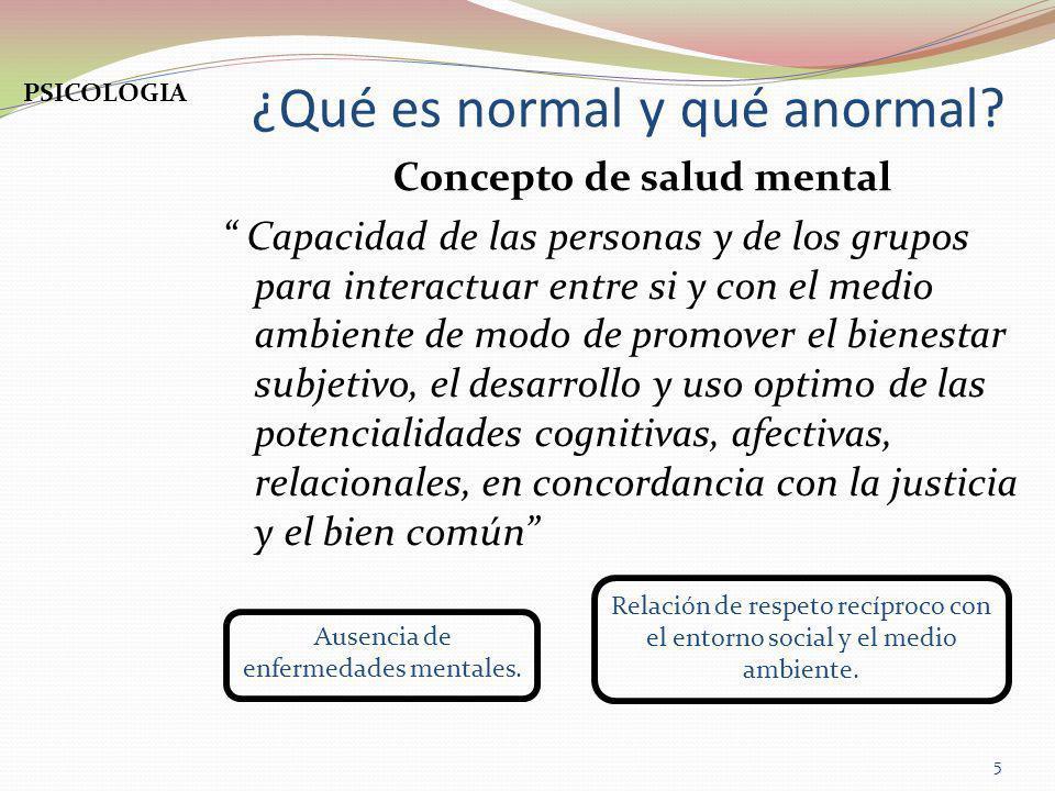 ¿Qué es normal y qué anormal