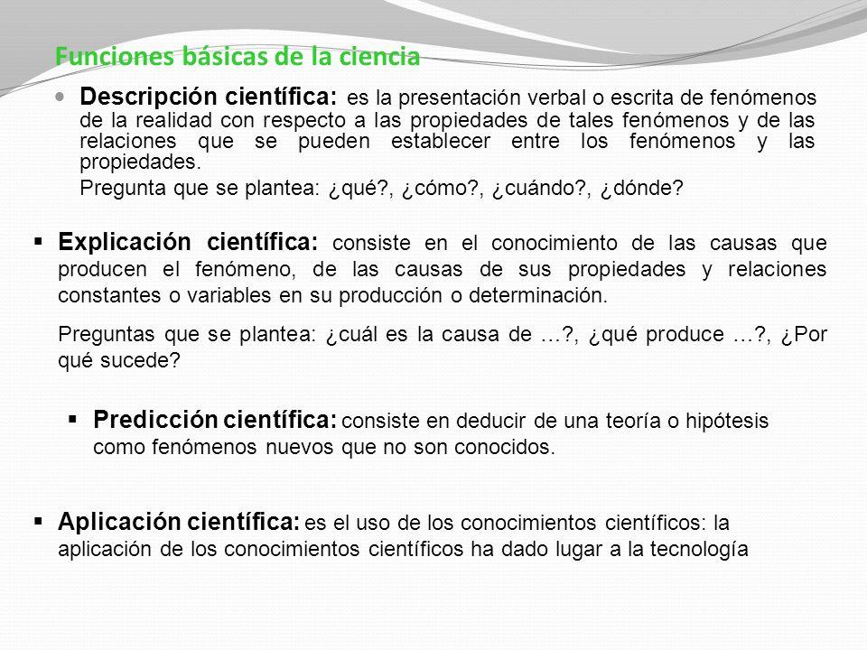 Funciones básicas de la ciencia