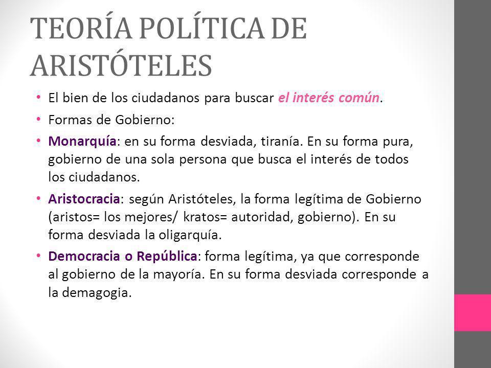 TEORÍA POLÍTICA DE ARISTÓTELES