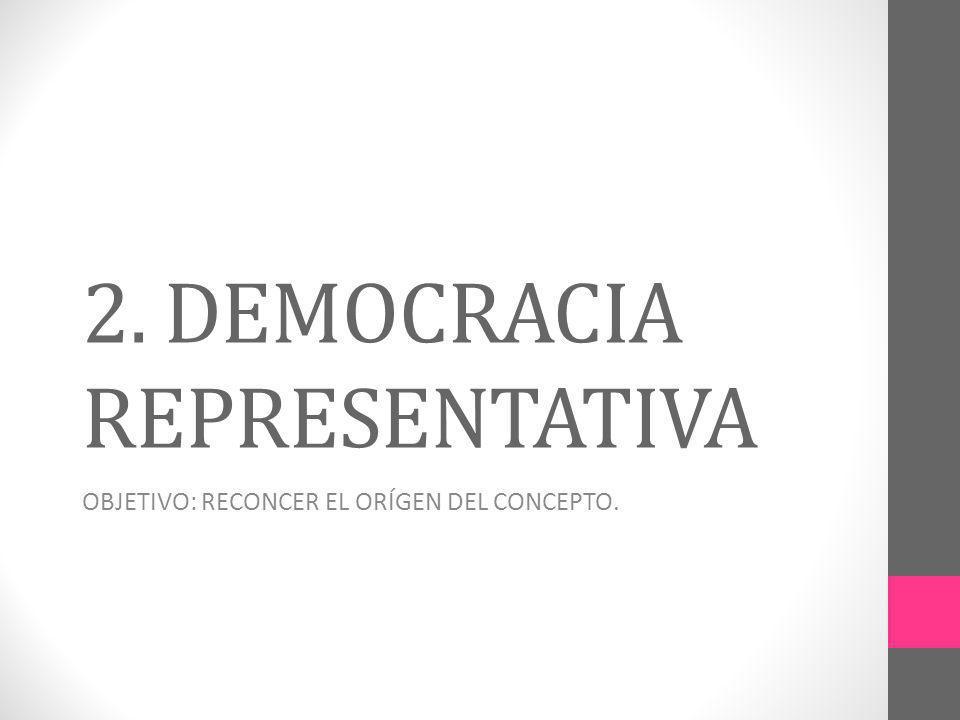 2. DEMOCRACIA REPRESENTATIVA