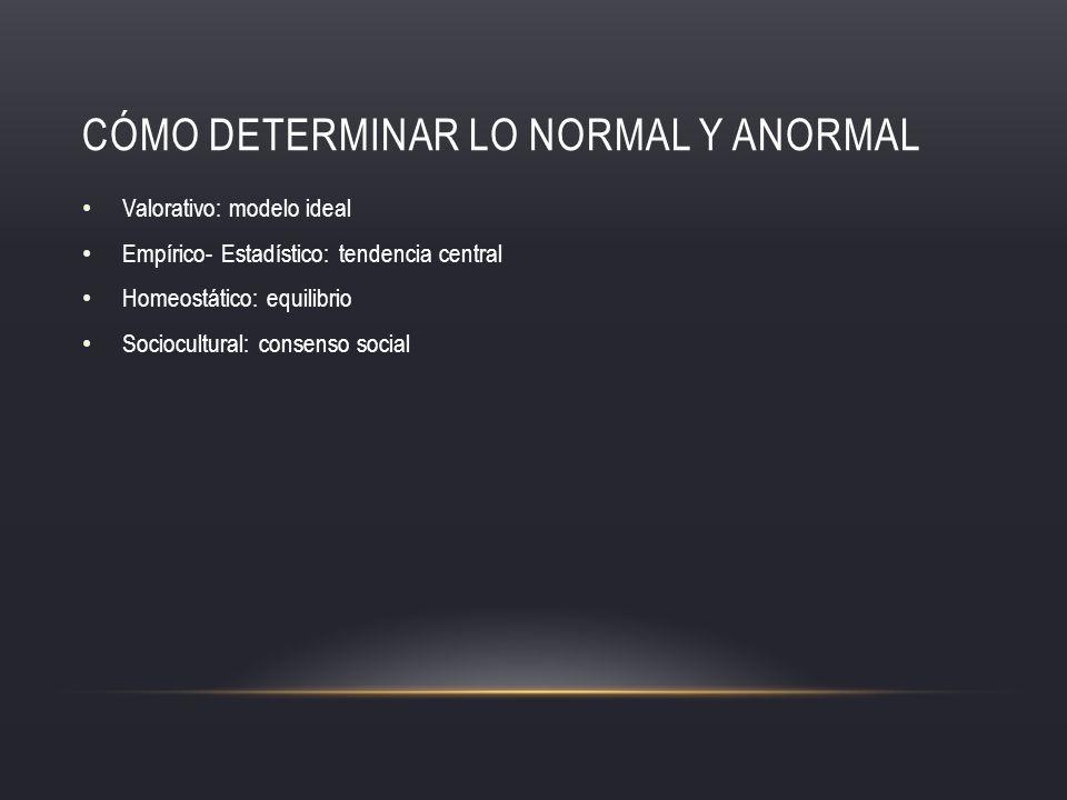 Cómo determinar lo normal y anormal