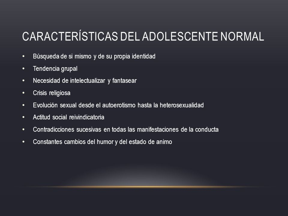 Características del adolescente normal