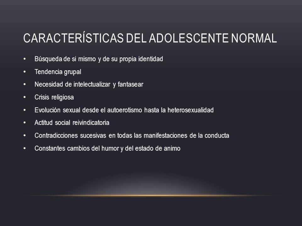 Características del adolescente normal