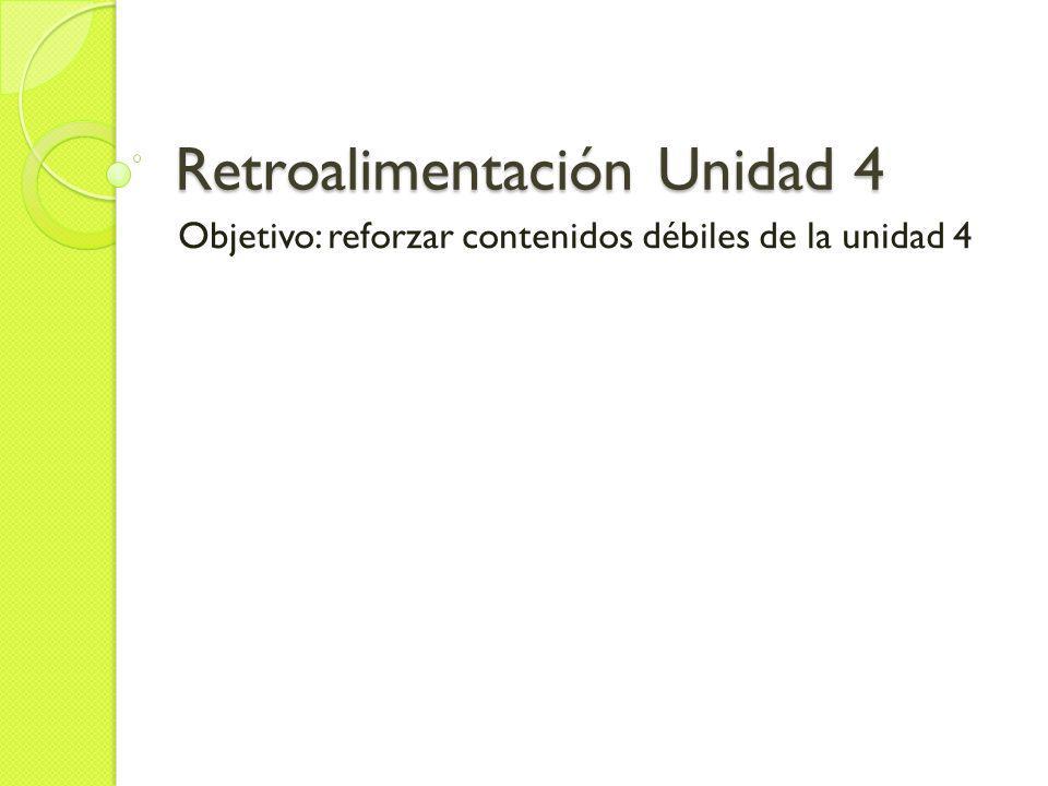 Retroalimentación Unidad 4