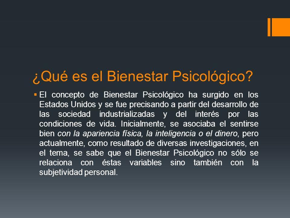¿Qué es el Bienestar Psicológico