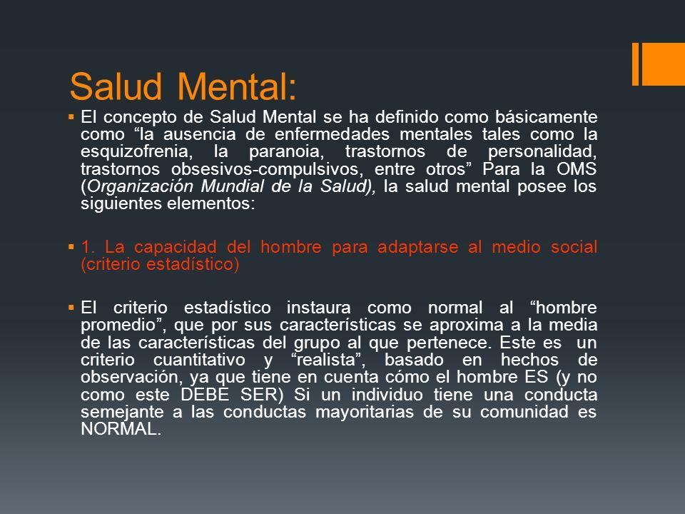 Salud Mental: