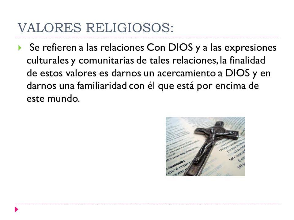 VALORES RELIGIOSOS: