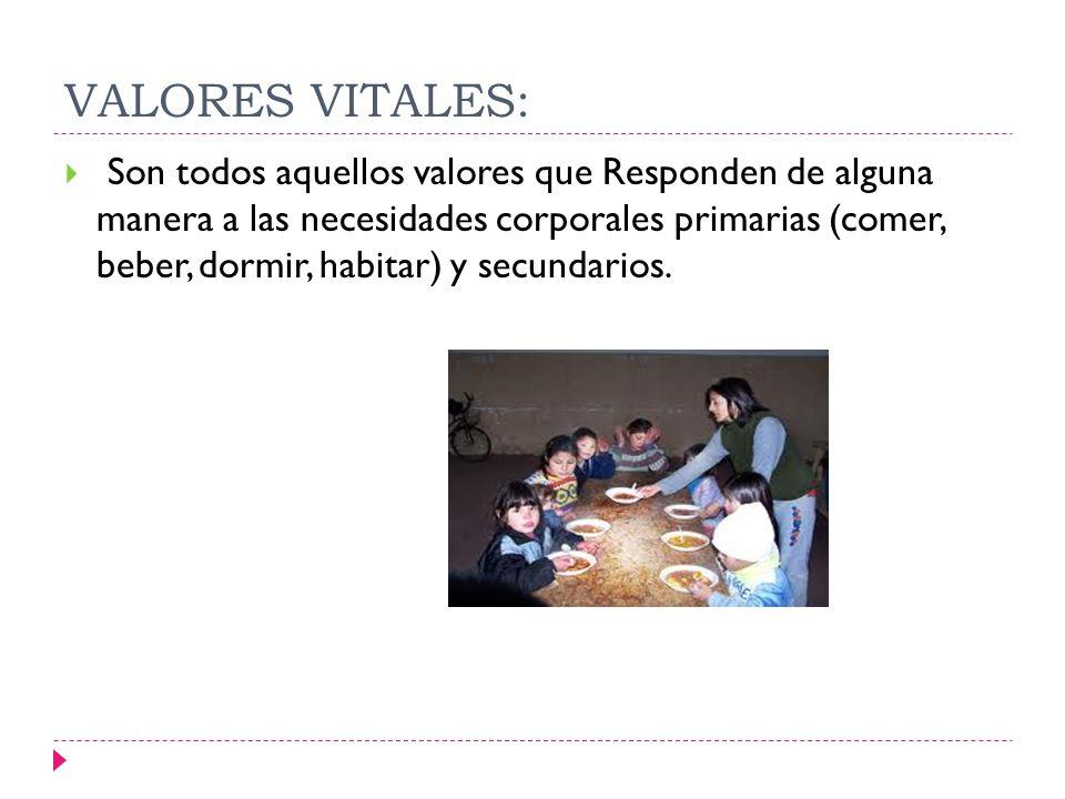VALORES VITALES: