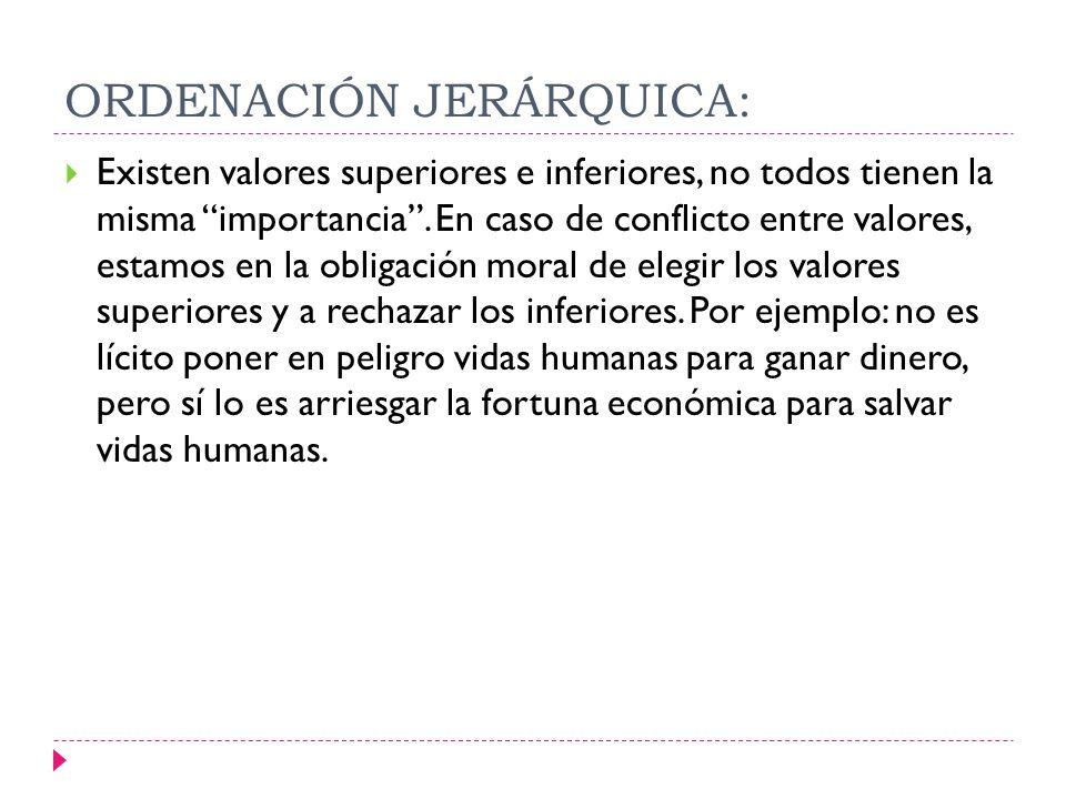 ORDENACIÓN JERÁRQUICA: