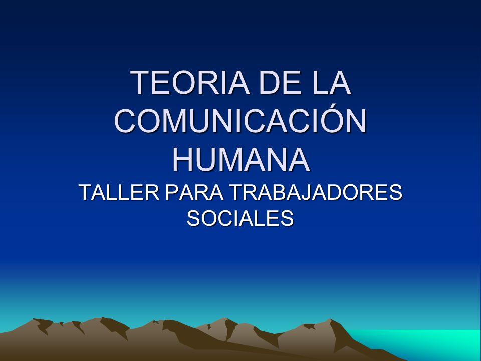 TEORIA DE LA COMUNICACIÓN HUMANA