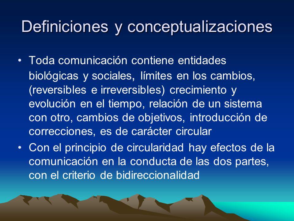 Definiciones y conceptualizaciones