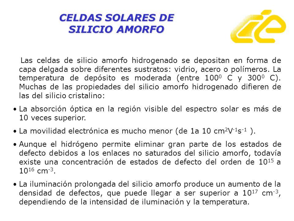 CELDAS SOLARES DE SILICIO AMORFO