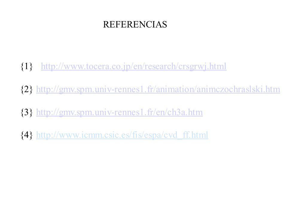 REFERENCIAS {1}   {2}