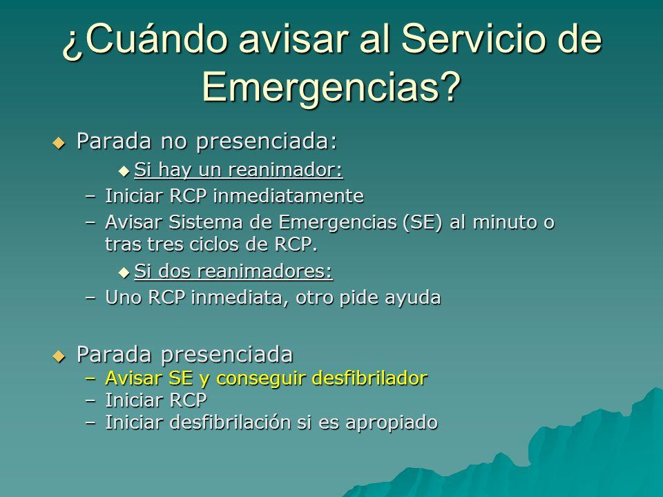 ¿Cuándo avisar al Servicio de Emergencias
