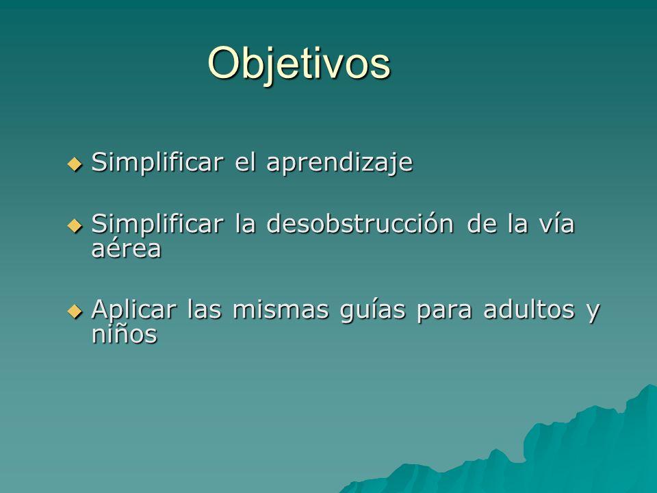 Objetivos Simplificar el aprendizaje