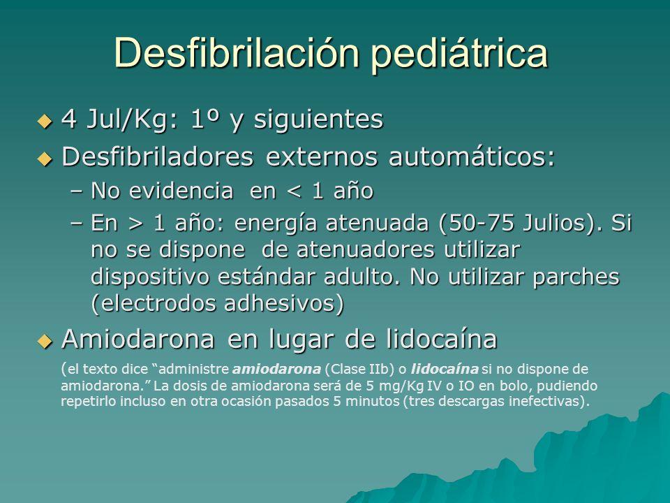 Desfibrilación pediátrica