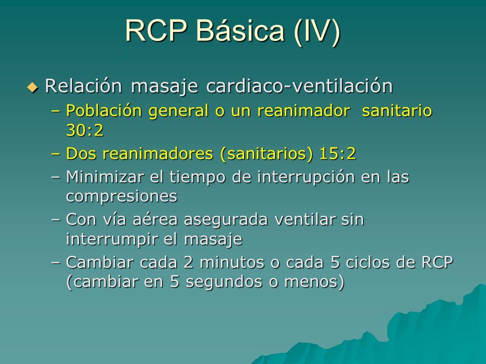 RCP Básica (IV) Relación masaje cardiaco-ventilación