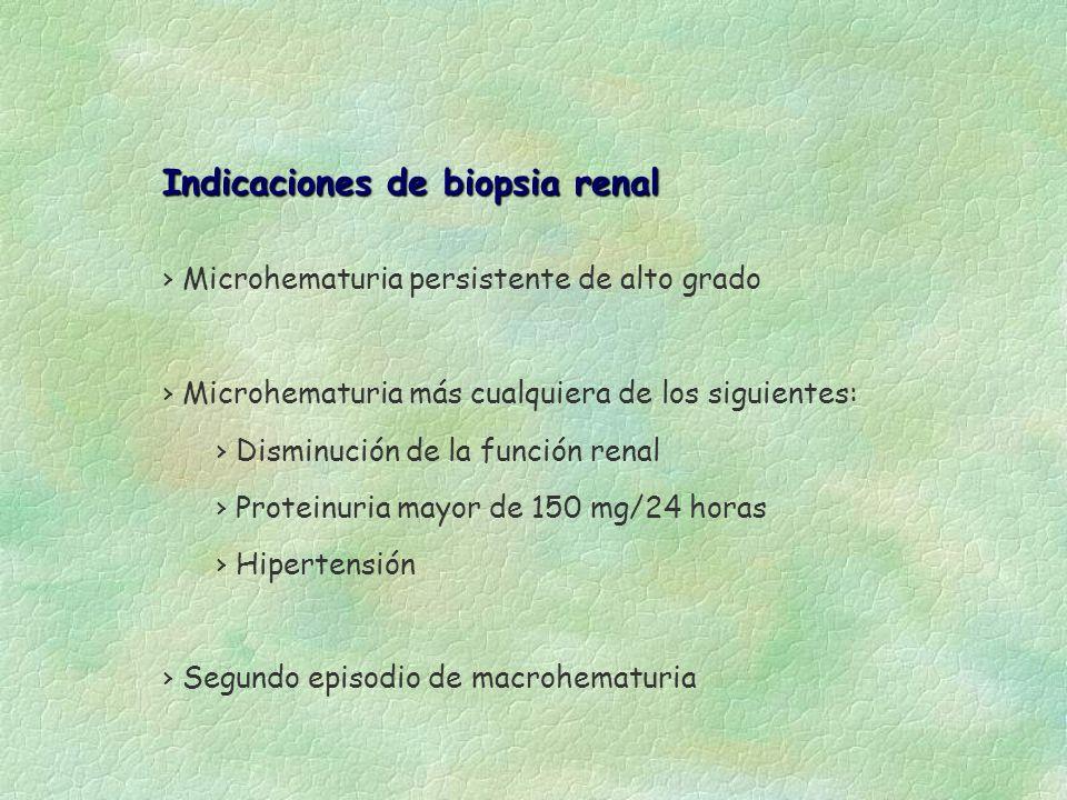 Indicaciones de biopsia renal