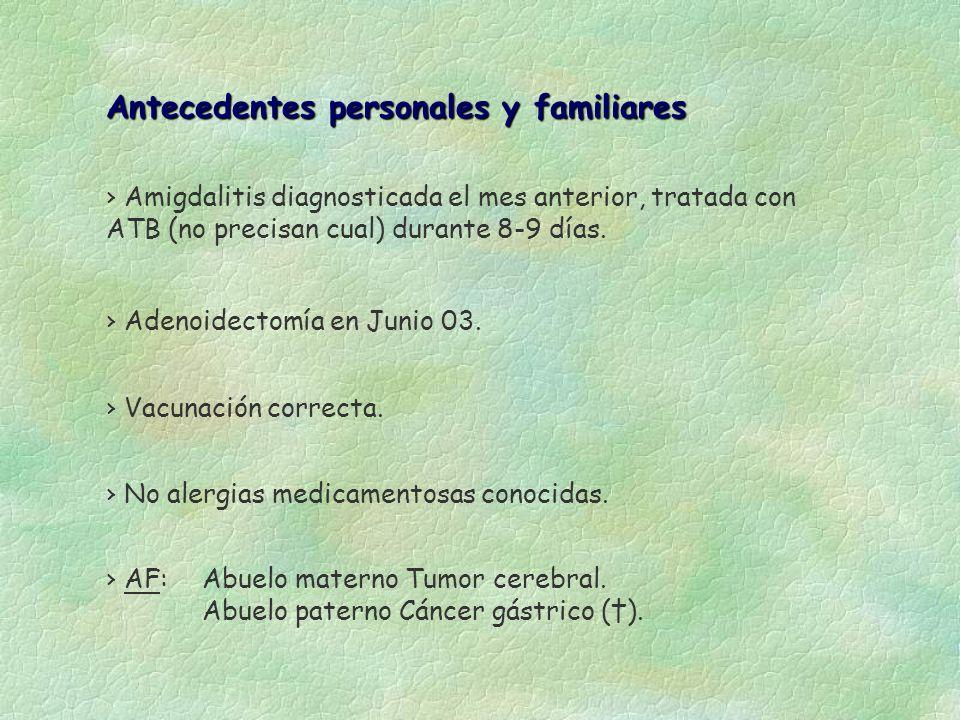 Antecedentes personales y familiares