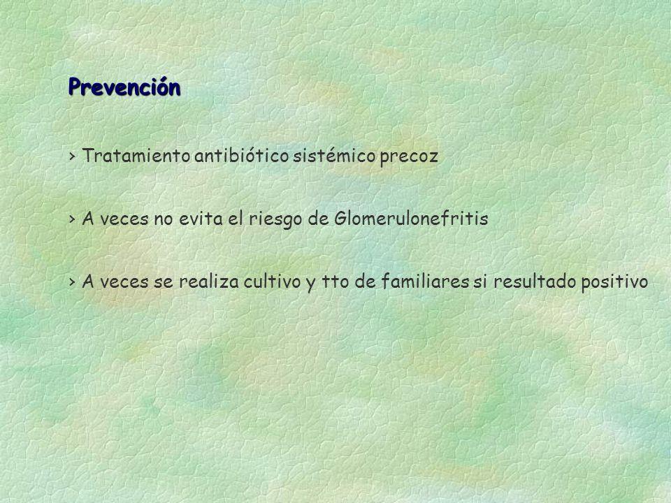 Prevención Tratamiento antibiótico sistémico precoz