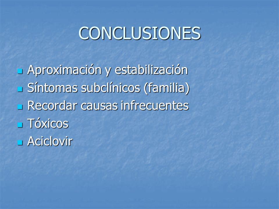 CONCLUSIONES Aproximación y estabilización