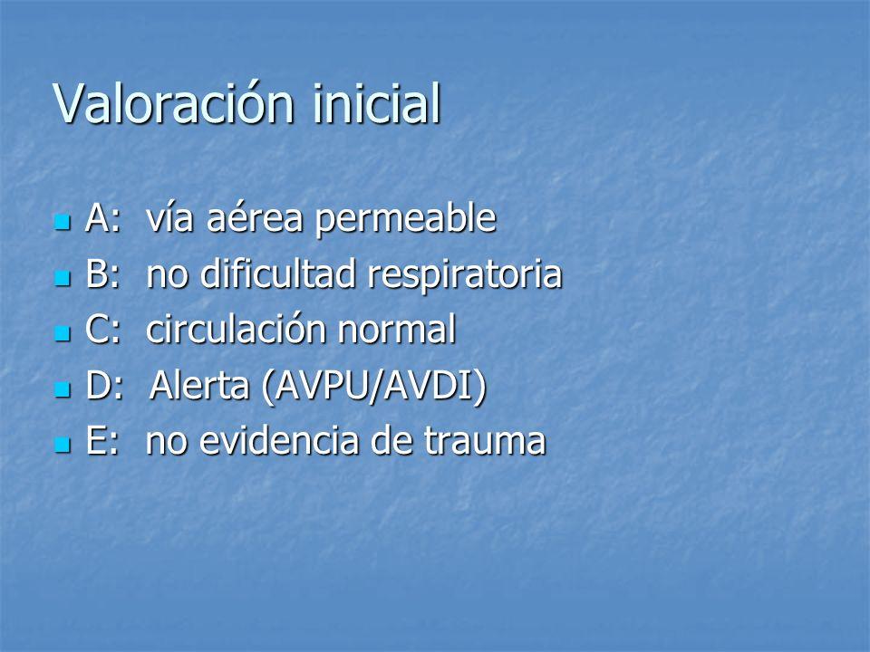Valoración inicial A: vía aérea permeable