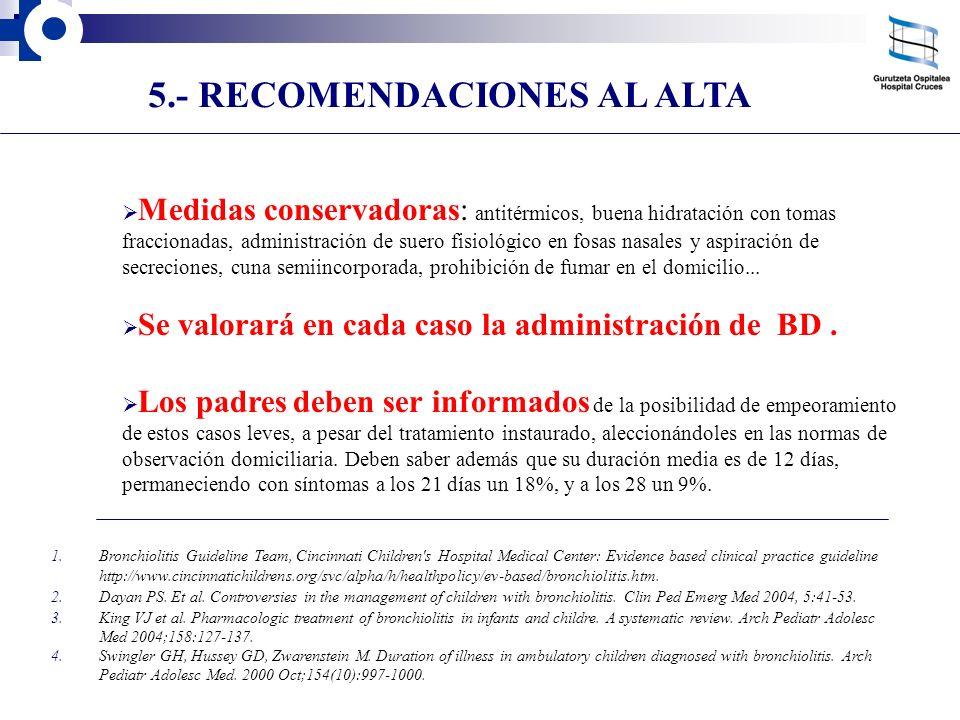 5.- RECOMENDACIONES AL ALTA