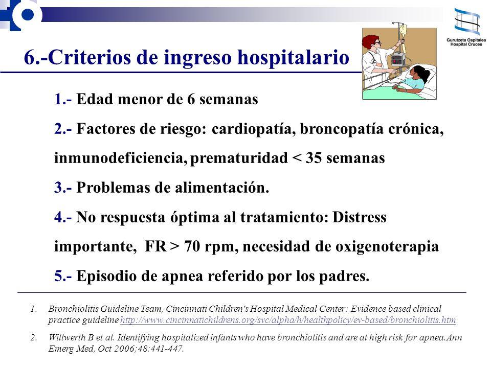 6.-Criterios de ingreso hospitalario