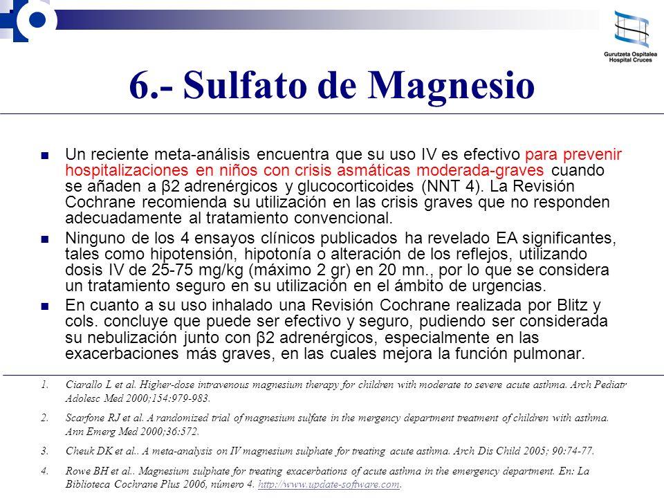 6.- Sulfato de Magnesio