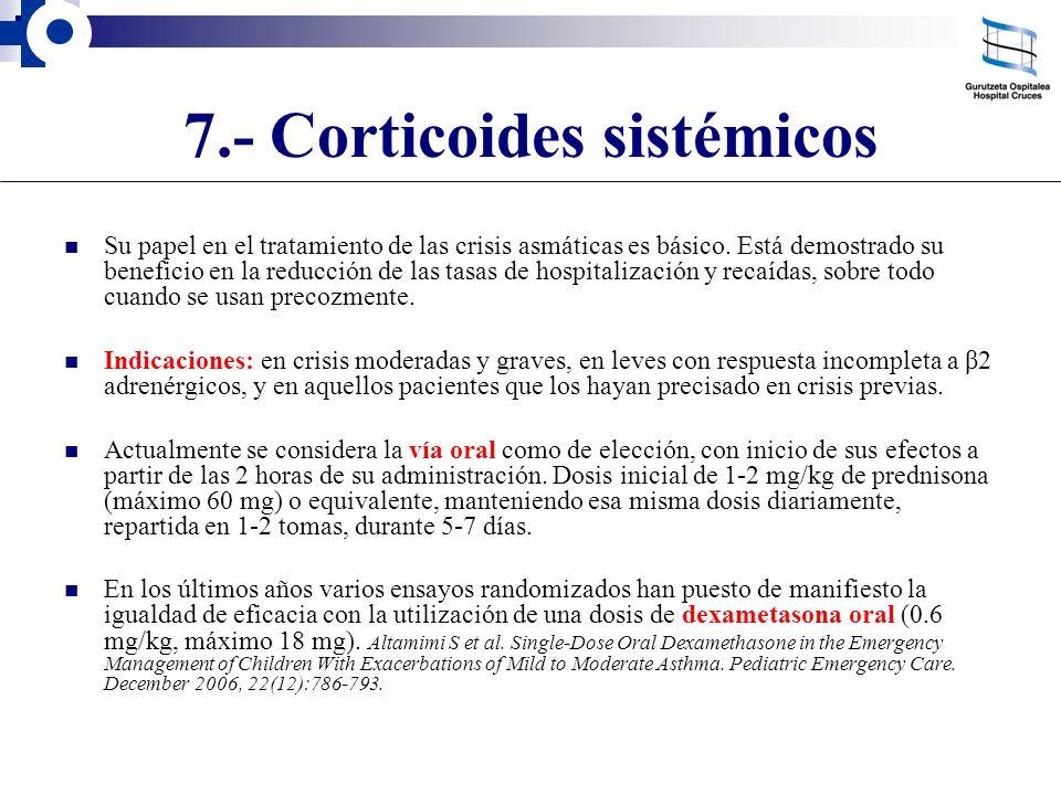 7.- Corticoides sistémicos