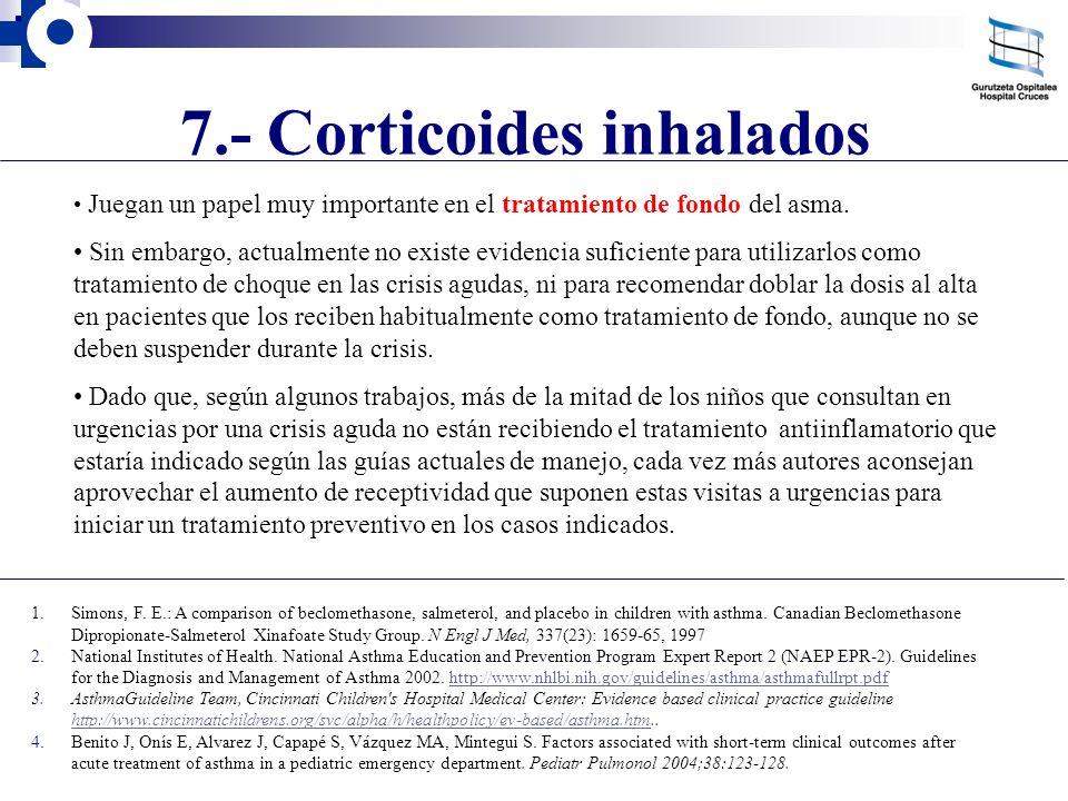 7.- Corticoides inhalados