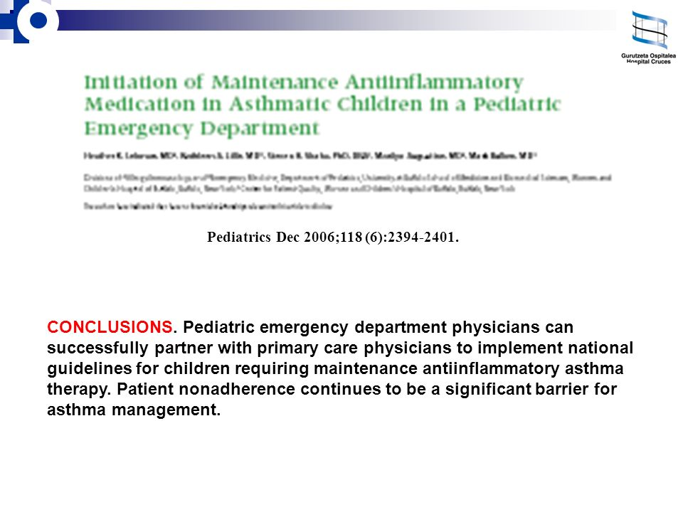 Pediatrics Dec 2006;118 (6):2394-2401.