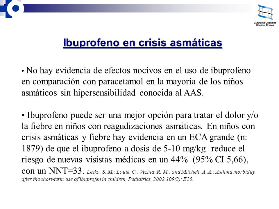 Ibuprofeno en crisis asmáticas