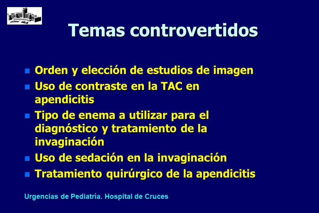 Temas controvertidos Orden y elección de estudios de imagen