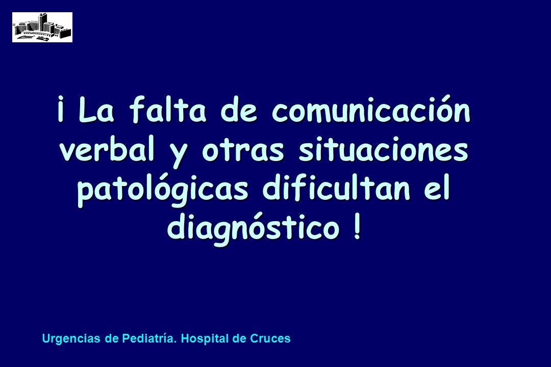 ¡ La falta de comunicación verbal y otras situaciones patológicas dificultan el diagnóstico !