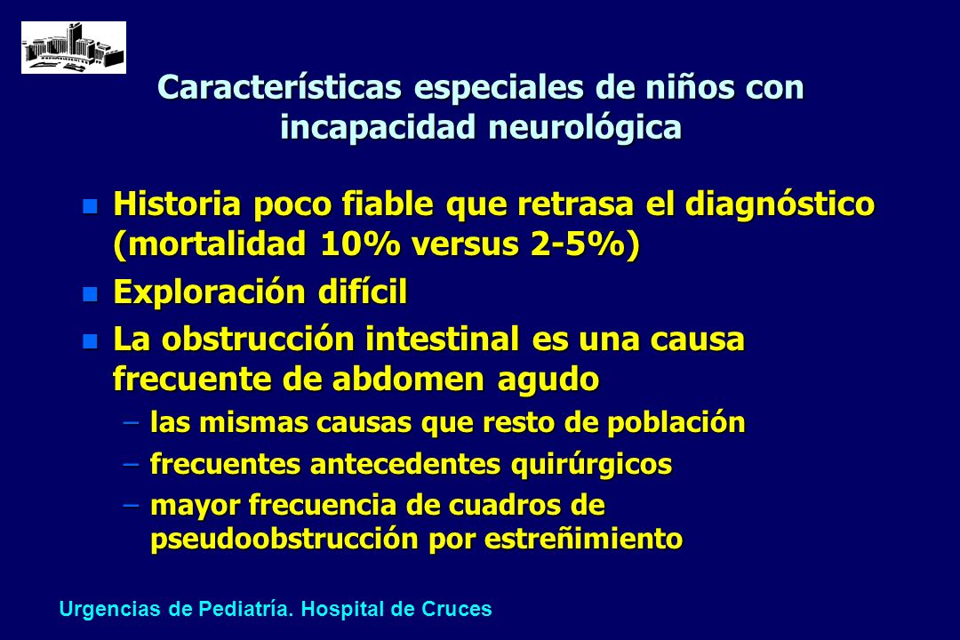 Características especiales de niños con incapacidad neurológica