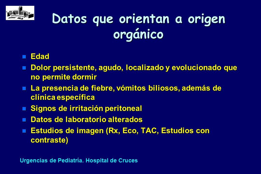 Datos que orientan a origen orgánico