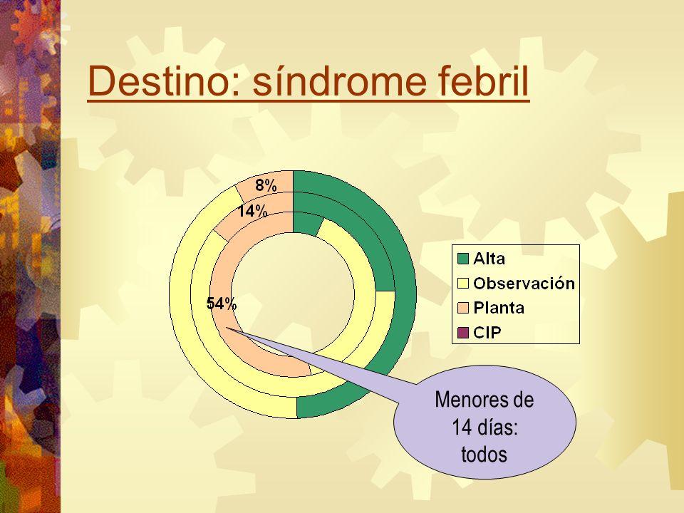 Destino: síndrome febril