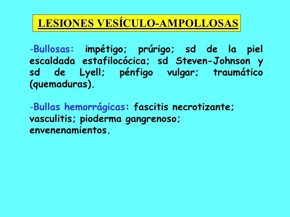 LESIONES VESÍCULO-AMPOLLOSAS