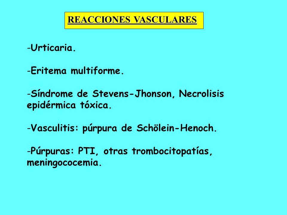 REACCIONES VASCULARES