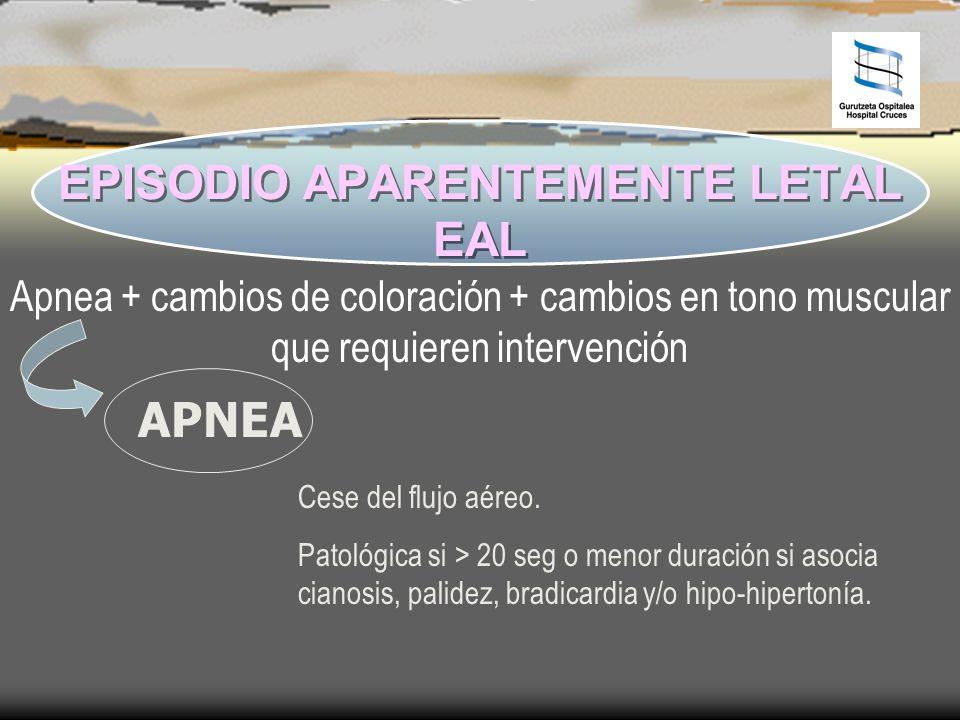 EPISODIO APARENTEMENTE LETAL EAL