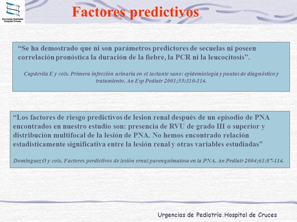 Factores predictivos