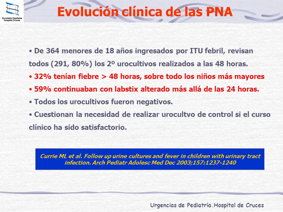 Evolución clínica de las PNA