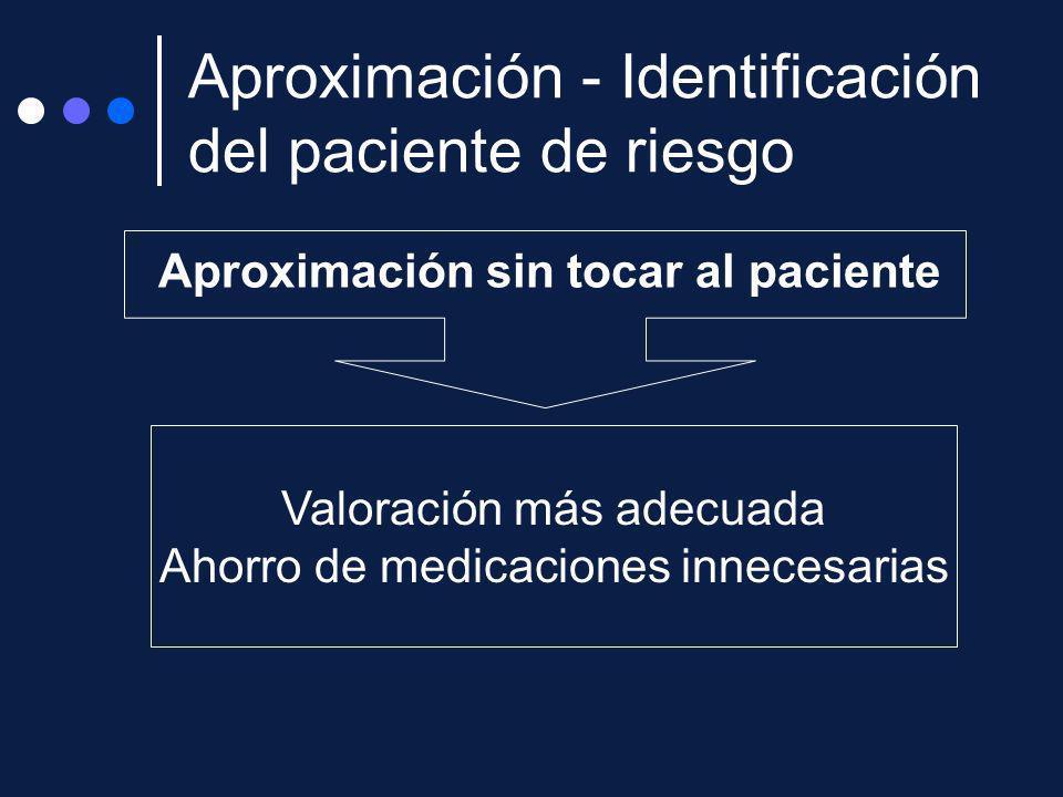 Aproximación - Identificación del paciente de riesgo