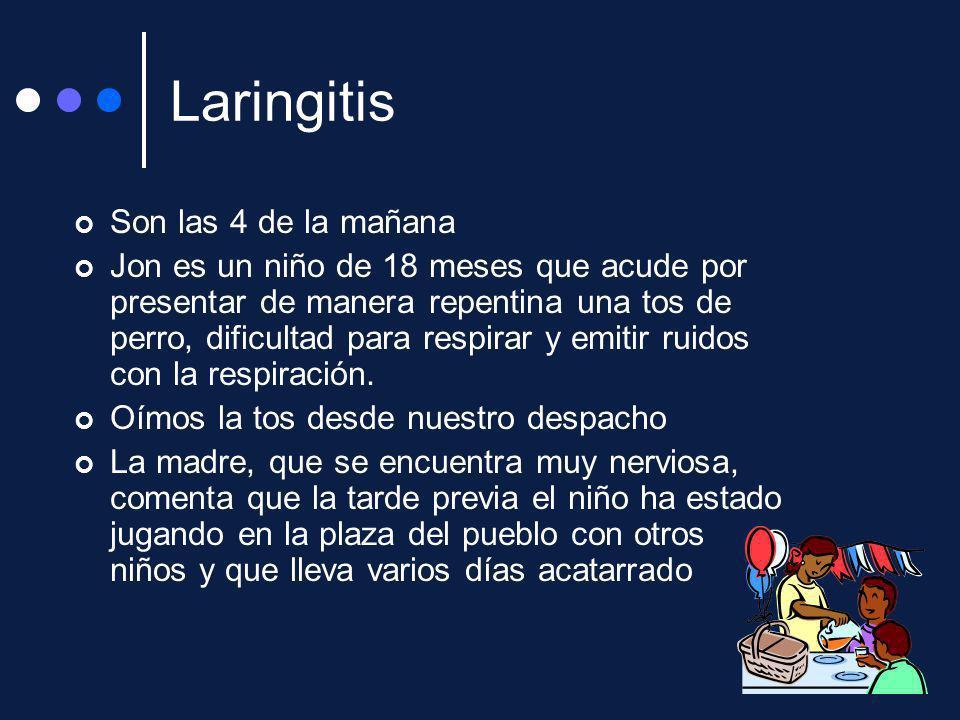 Laringitis Son las 4 de la mañana