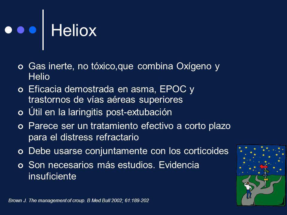 Heliox Gas inerte, no tóxico,que combina Oxígeno y Helio