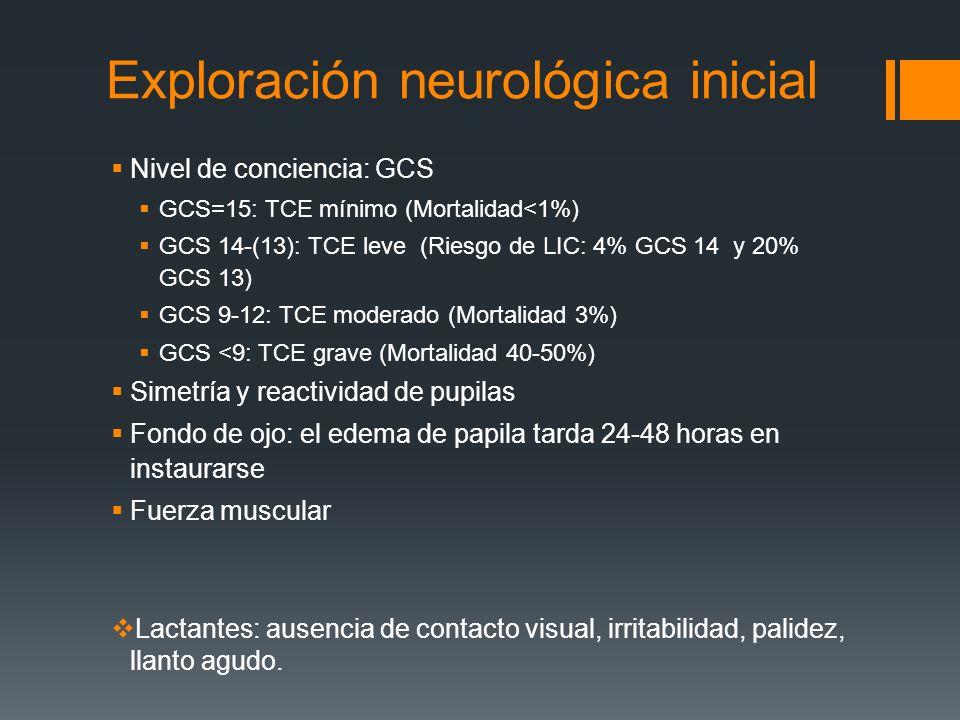 Exploración neurológica inicial